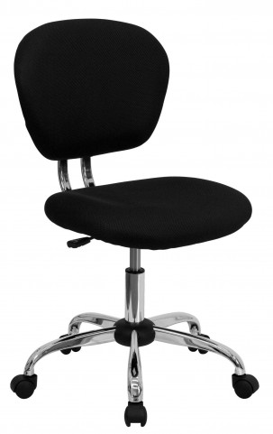 Mid-Back Black Chrome Task Chair