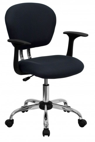 Mid-Back Gray Arm Task Chair