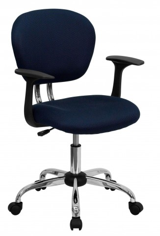 Mid-Back Navy Arm Task Chair