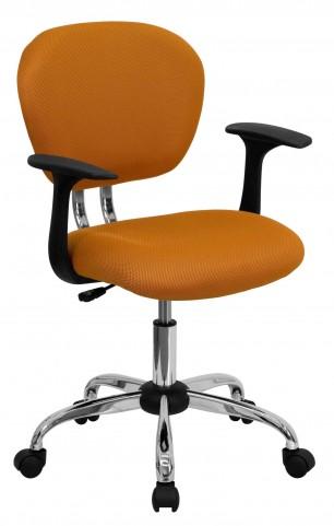 Mid-Back Orange Arm Task Chair