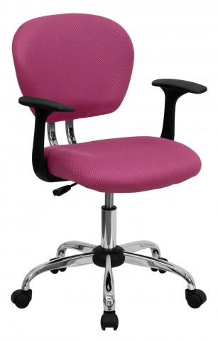 Mid-Back Pink Arm Task Chair