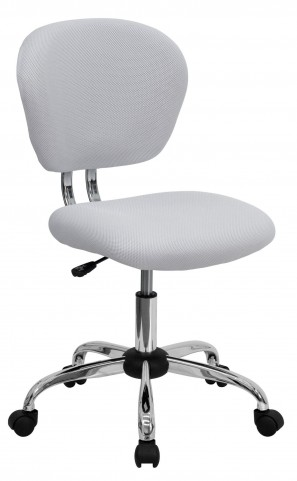 Mid-Back White Task Chair
