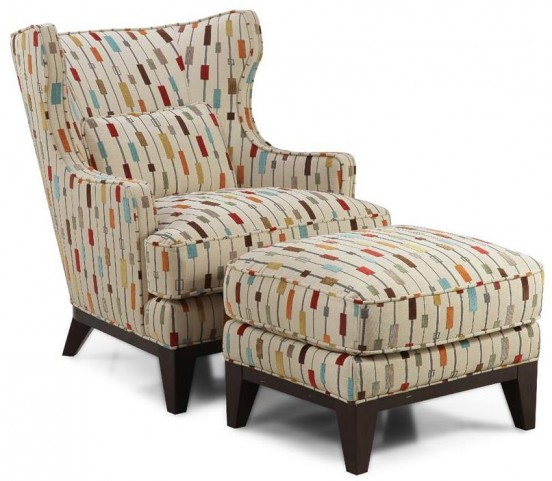 Ricard Antique Espresso Accent Chair & Ottoman