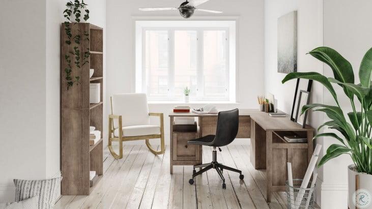 Arlenbry Gray Home Office Desk With Return