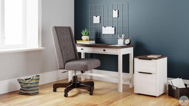"""Dorrinson Two Tone 47"""" Home Office Drawer Desk"""