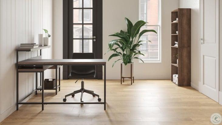 Dorrinson Two Tone Home Office Desk