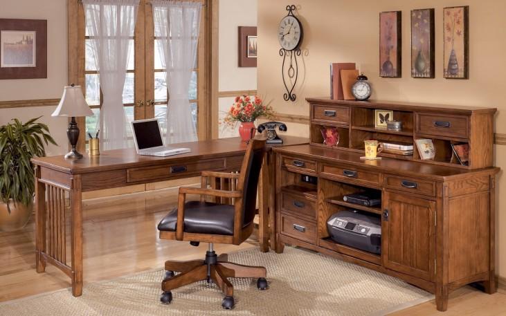 Cross Island Credenza Home Office Set