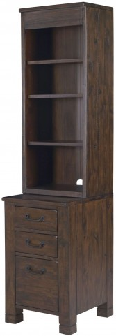Pine Hill Rustic Pine Bunching Cabinet Bookcase