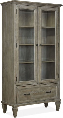 Sliding Door Glass Front Bookcase