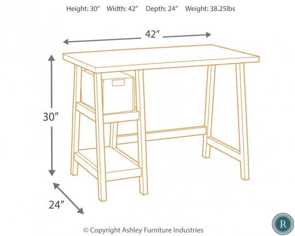 Mirimyn Black Home Office Small Desk
