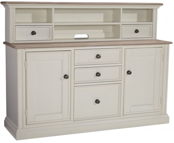 Sarvanny Two-tone Home Office Credenza With Hutch