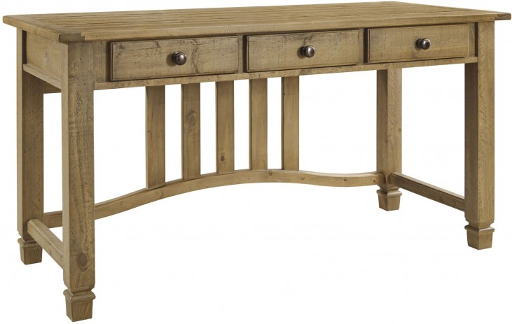Trishley Weathered Gray Home Office Desk