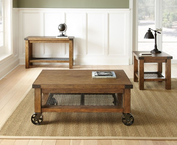 Hailee Industrial Occasional Table Set
