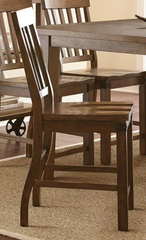 Hailee Antique Oak Counter Chair Set of 2