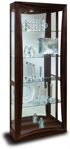 Halo Gemini Metallic Espresso Ii Curio Cabinet From Philip