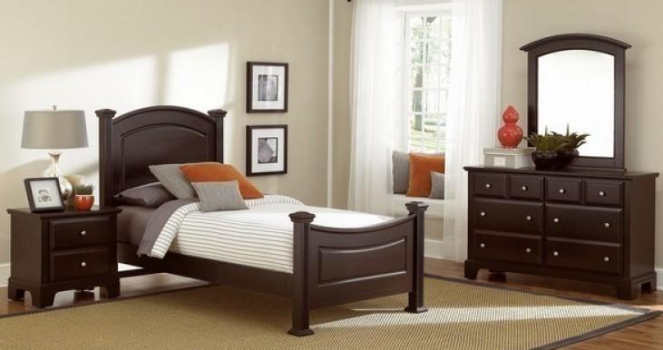 Hamilton/Franklin Merlot Youth Panel Bedroom Set