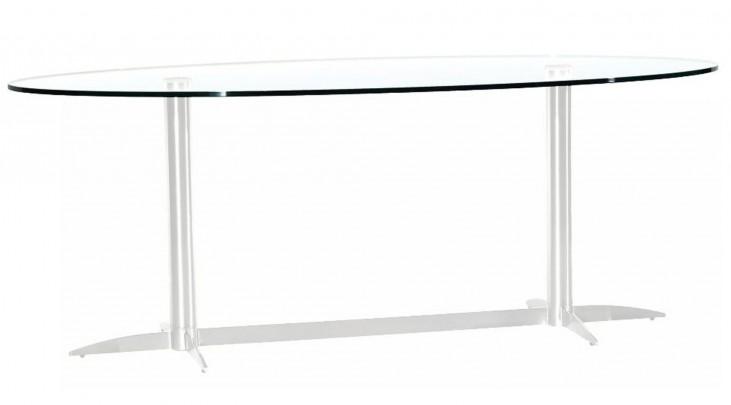 Havana-2-G Oval Glass Dining Table