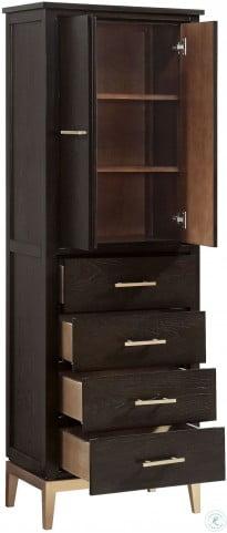 """Hepburn Dark Chocolate 24"""" Linen Tower"""
