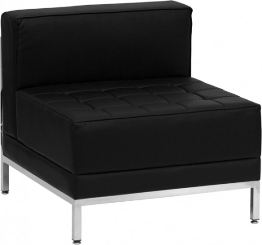 Hercules Imagination Series Black Leather Middle Chair