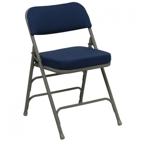 Hercules Series Premium Curved Navy Fabric Folding Chair