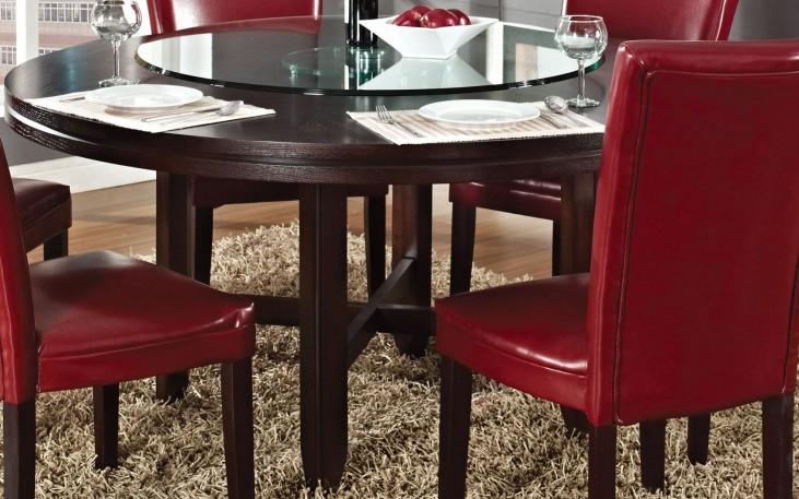 "Hartford Dark Oak 62"" Round Dining Table"
