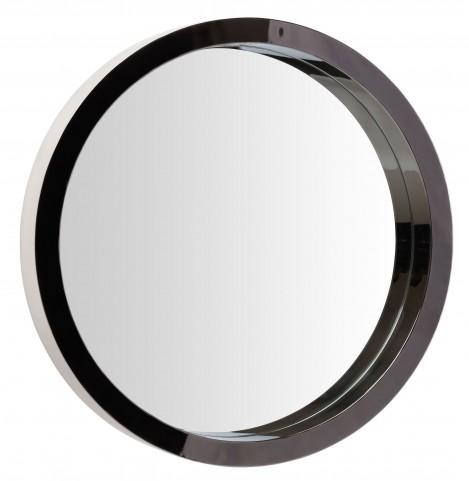 "Julia 35"" Black Stainless Wall Mirror"