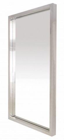 "Glam 36"" Silver Metal Wall Mirror"