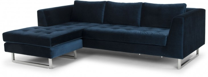 Matthew Midnight Blue Sectional Sofa from Nuevo | Coleman Furniture