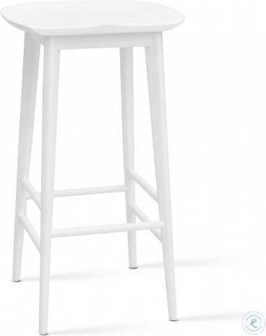 Hilton White Bar Stool