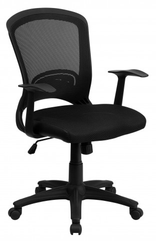 Mid-Back Black Padded Chair
