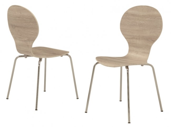 1050 Natural Bentwood Side Chair Set of 4