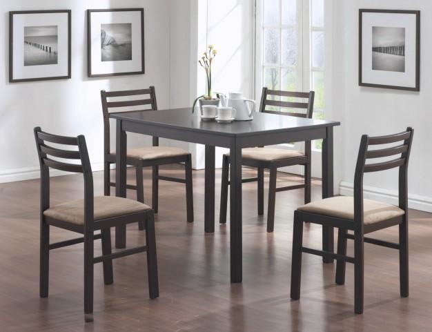 1111 Cappuccino Veneer 5Pcs Dining Set