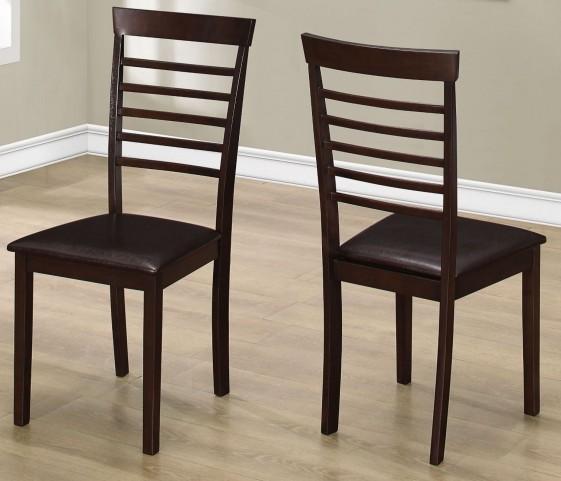 "Dark Brown 37"" Dining Chair Set of 2"