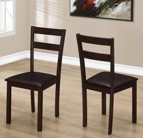 "Dark Brown 35"" Dining Chair Set of 2"