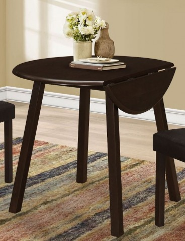 """Cappuccino 36"""" Round Dining Table"""