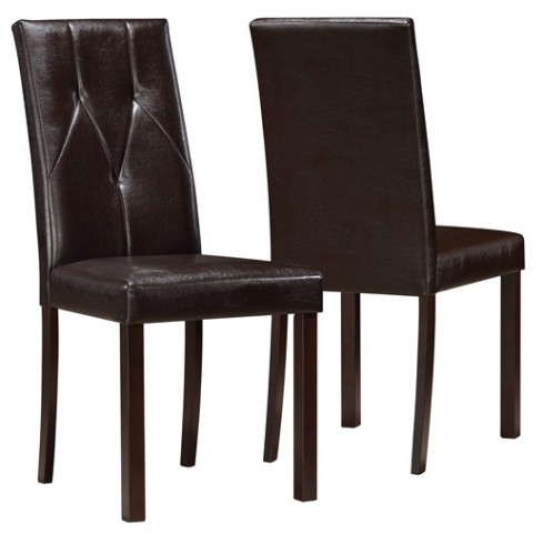 1181 Dark Brown Dining Chair Set of 2