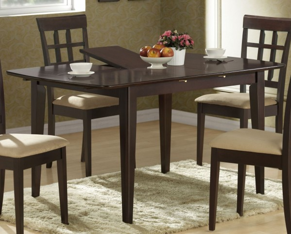 1897 Cappuccino Butterfly Leaf Extendable Dining Table