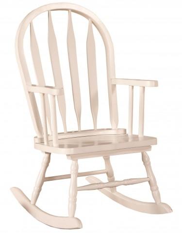 1501 White Arrow Back Juvenile Rocking Chair