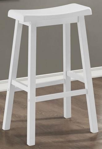 """29"""" Saddle Seat White Barstools Set of 2"""