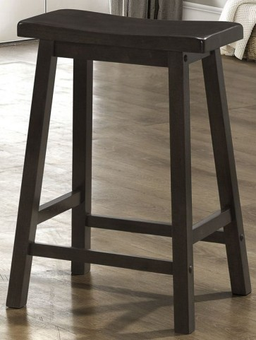 "24"" Saddle Seat Cappuccino Barstools Set of 2"