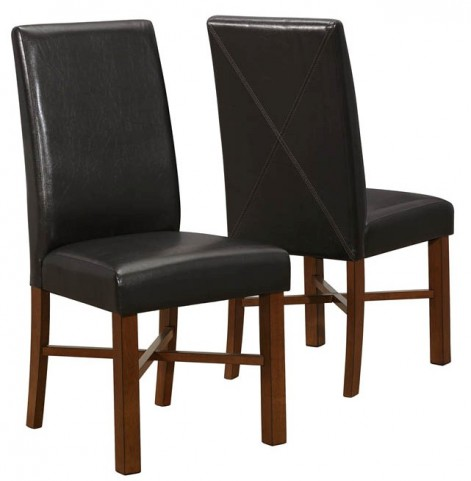 1818 Modern Oak / Brown Side Chair Set of 2