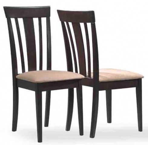1898 Cappuccino Microfibre Side Chair Set of 2