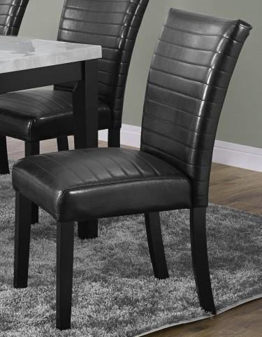 "Black 38"" Parson Chair Set of 2"