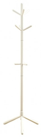 2002 White Solid Wood Coat Rack