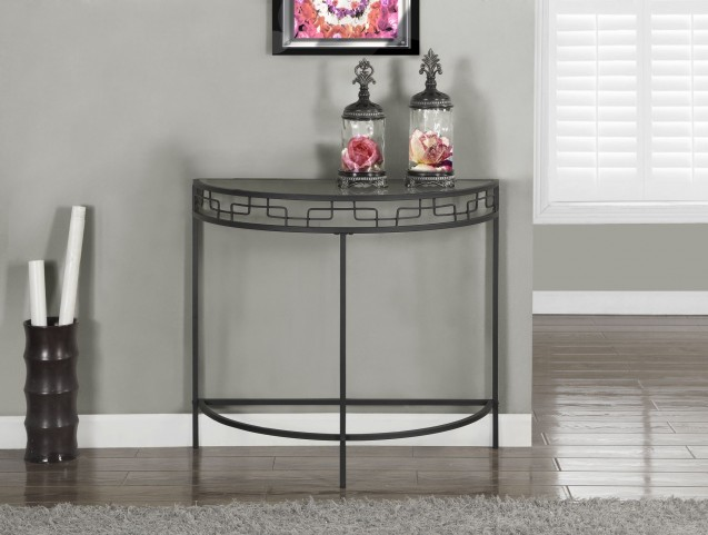 Charcoal Gray Metal Sofa Console Accent Table