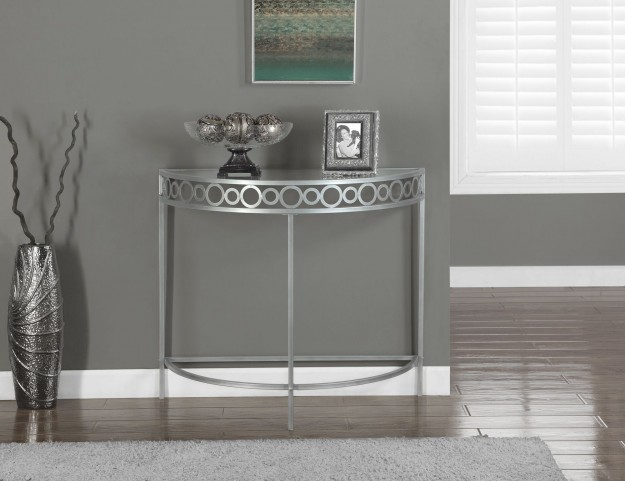 Metal Hall Console Accent Table