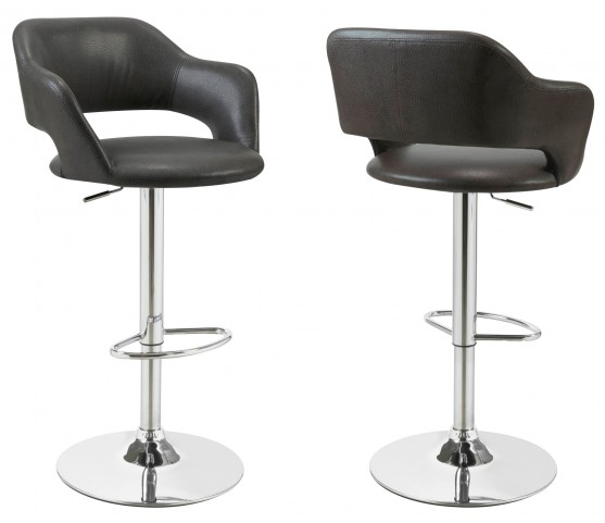 2441 Charcoal Grey / Chrome Metal Hydraulic Lift Barstool