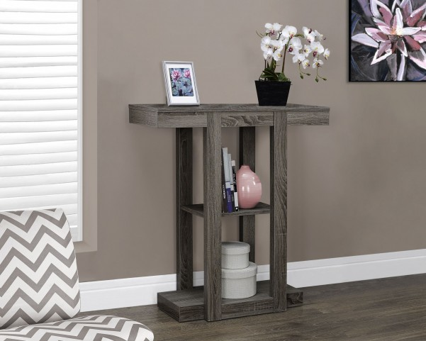 "Dark Taupe Reclaimed-Look 32"" Hall Console Accent Table"