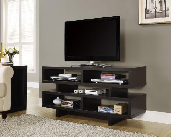 2460 Cappuccino Hollow-Core TV Console