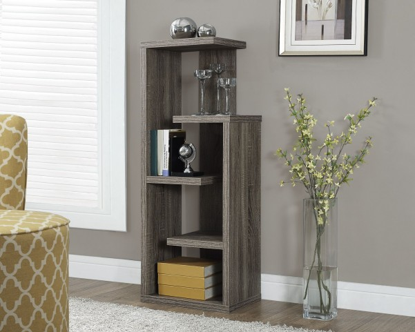 """Dark Taupe Reclaimed-Look 48"""" Accent Display Unit"""